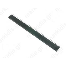 PINS 1X40 ΘΗΛΥΚΑ ΕΥΘΕΙΑ 3Α, 2.54mm