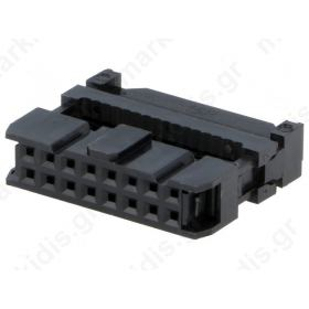 CONNECTOR IDC ΘΗΛΥΚΟ PIN16 for ribbon cable 1.27mm
