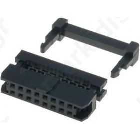 CONNECTOR IDC ΘΗΛΥΚΟ PIN16 with strain relief IDC 1mm