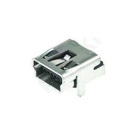 MX-54819-0519 Socket; USB B mini; on PCBs; THT; PIN:5; angled 90°