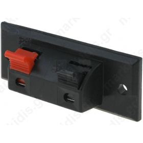 Push terminal; loudspeaker; mono; for panel mounting; Width:55mm