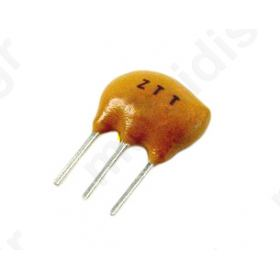 CST4.00MGW Resonator: ceramic; 4MHz; THT; 2.5mm; Temp.stab: ±0,3 %; ±0.5%