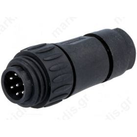 C16-1-3104-001, Connector: circular; plug; male; Series: ECOMATE (C016); PIN:7