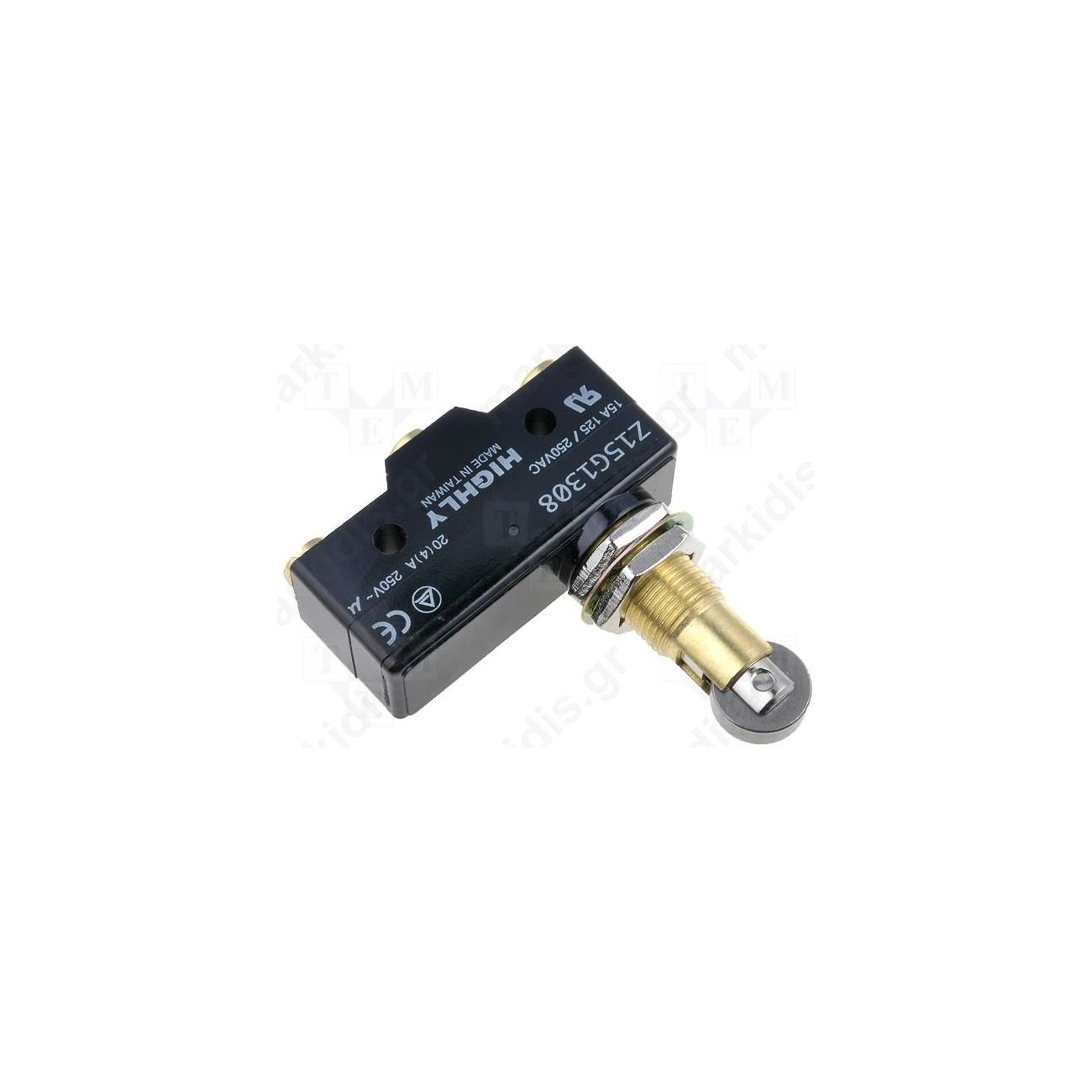 Z15g1703 Microswitch With Lever Roller Spdt 15a 250vac On Micro Switch