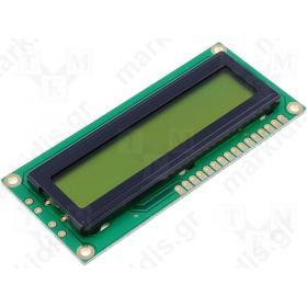 ΟΘΟΝΗ LCD 1Χ16  5.97mm DEM16101SYH