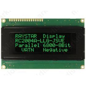 RC2004A-LLG-JSVE ΟΘΟΝΗ LCD; alphanumeric; VA Negative; 20x4; LED
