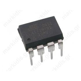 I.C ATTINY85-20PU,Flash:8kx8bit; EEPROM:512B; SRAM:512B; DIP8
