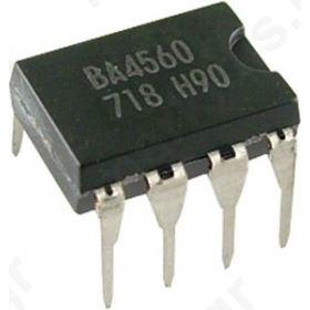 I.C BA4560,Operational amplifier 2MHz  36VDC Channels:2; DIP8