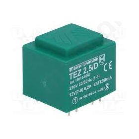 TEZ2.5/D/12V Transformer encapsulated 2.5VA 230VAC 12V