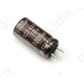 KM1000/10 Capacitor: electrolytic; THT 1000uF 10V O10x12.5mm Pitch:5mm  