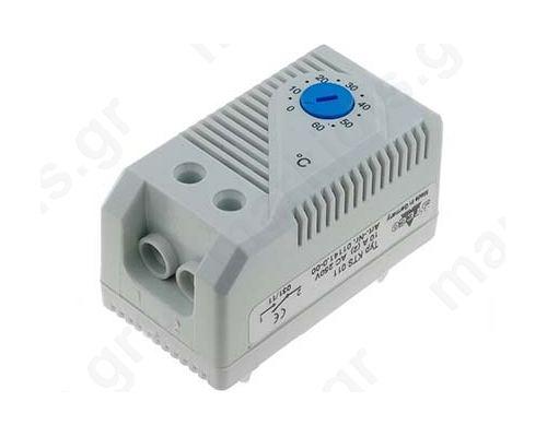 ΘΕΡΜΟΣΤΑΤΗΣ NO 10A IP20 250VAC