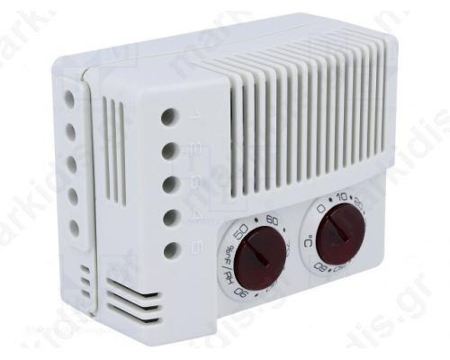 Αισθητήρας: θερμοκρασίας και αισθητήρα υγρασίας Επαφές: SPDT 10A