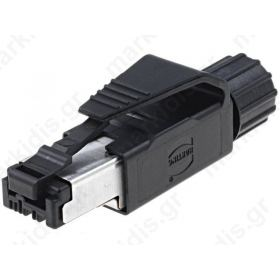 ΚΟΝΝΕΚΤΟΡ RJ45 CAT5,Plug; RJ45; PIN:4; Cat:5; gold plated; Pin layout:8p4c; 6.1?6.9mm