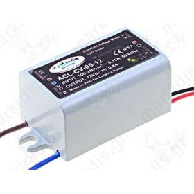 ΤΡΟΦΟΔΟΤΙΚΟ ΓΙΑ LED 5W 12V 400mA 230VAC IP67