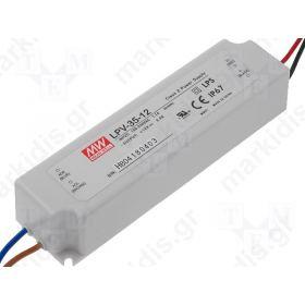 ΤΡΟΦΟΔΟΤΙΚΟ ΓΙΑ LED 36W 12VDC 3A IP67