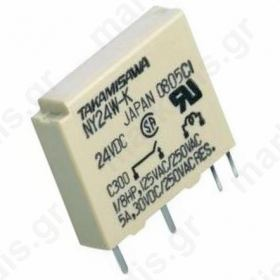 Relay electromagnetic SPST-NO Ucoil 24VDC 5A/250VAC 5A/30VDC