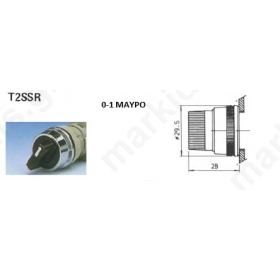 ACT.FOR SEL/TOR SWITCH 0-1 ΜΑΥΡΟ