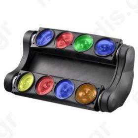 RGBW CURVE , ΚΕΦΑΛΗ RGB  8Χ10 Watt  DMX