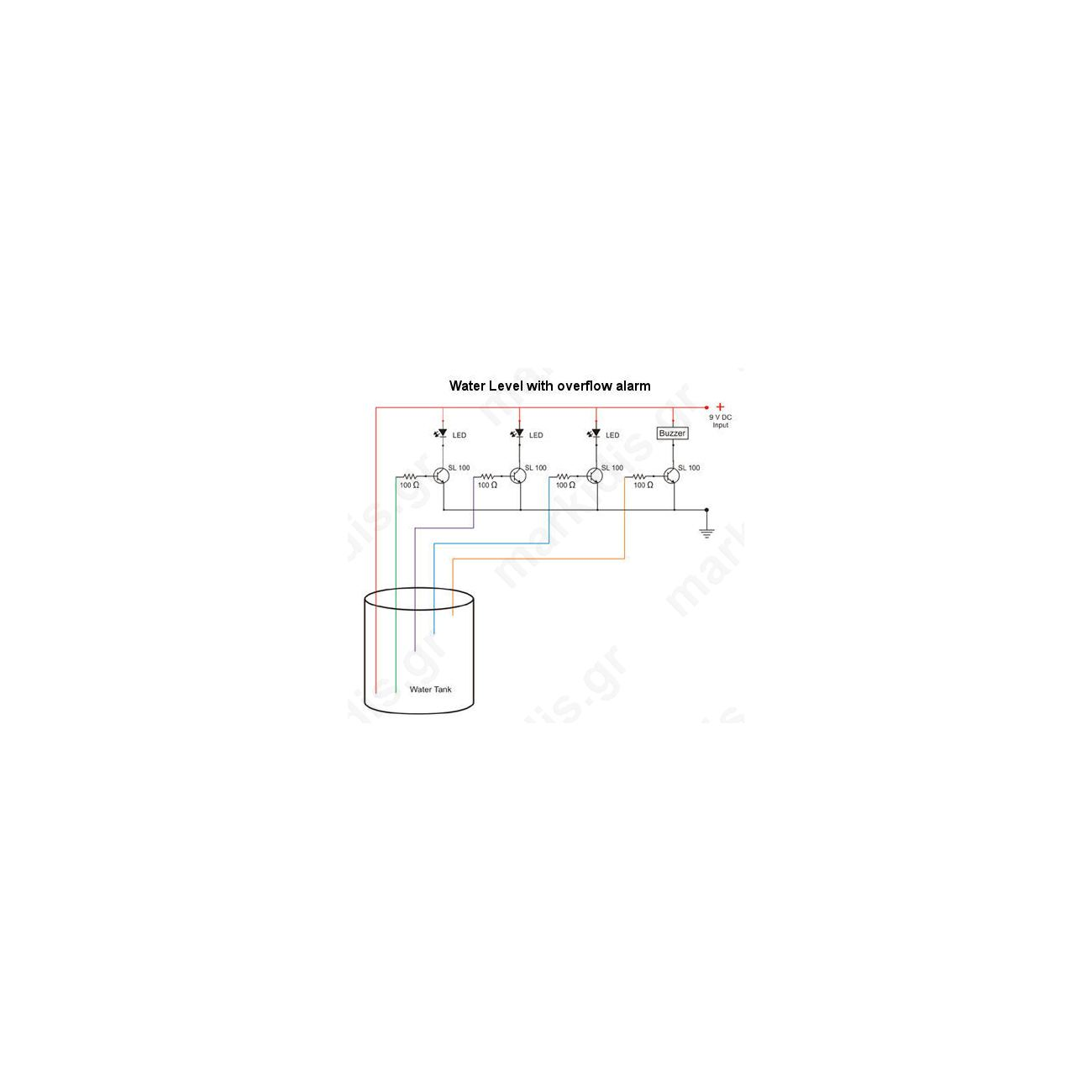 Make A Water Level Indicator Alarm Circuit