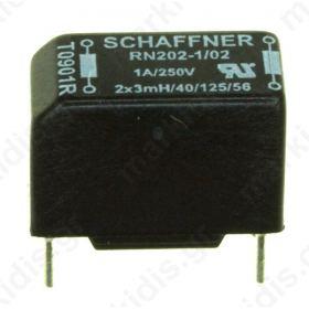 CHOKE SCHAFFNER RN202-1-02 2Χ3.0ΜΗ 1Α