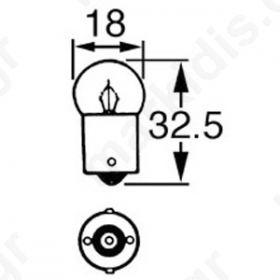 ΛΑΜΠΑΚΙ ΜΠ/ΝΕΤ 16X35mm 24V/3W BA15S