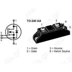 MOSFET MODULE 60A/500V