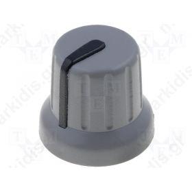 Κουμπί Ποτενσιομέτρου 6ΜΜ Υ14ΜΜ Γκρί-Μαύρο