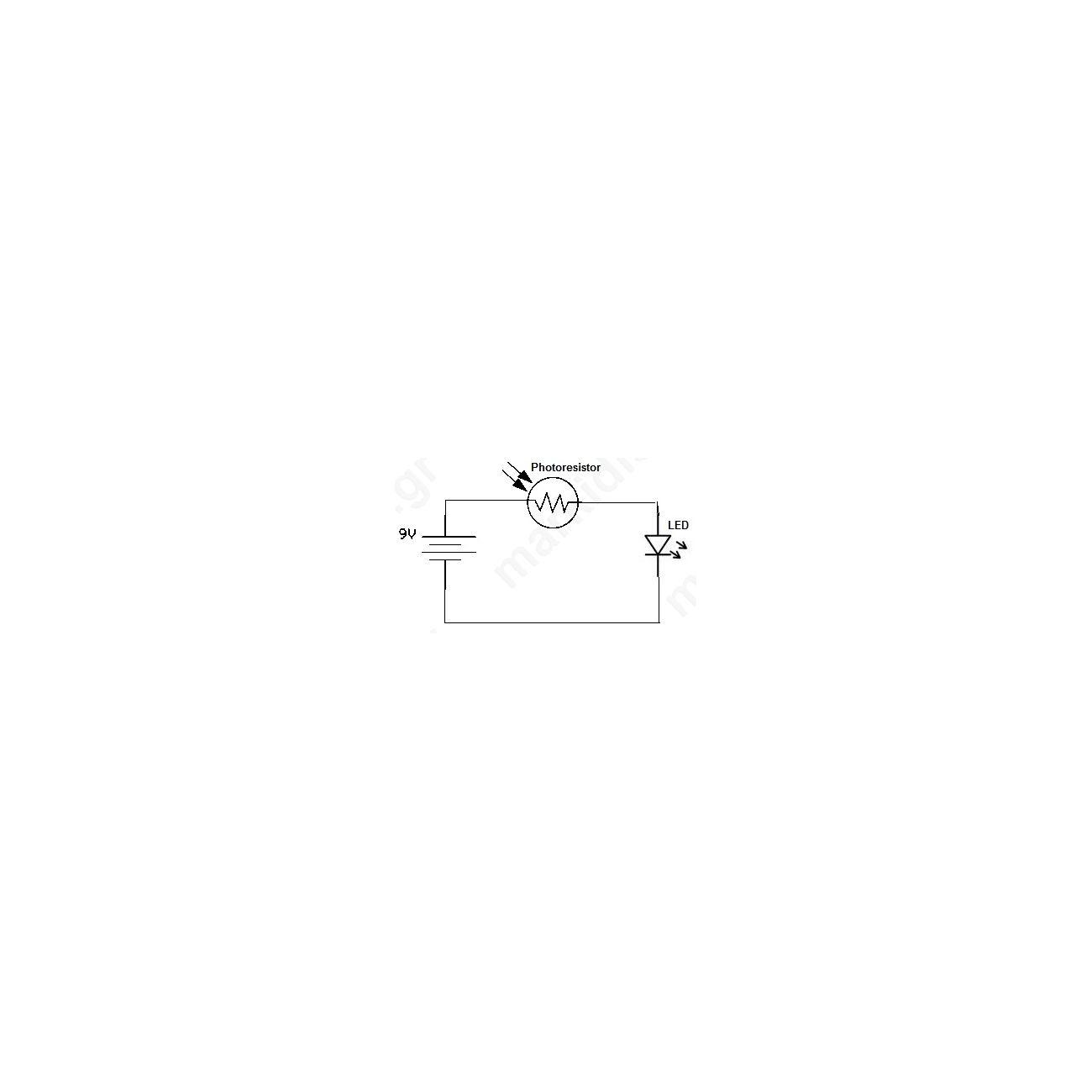 Simple Photoresistor Circuit