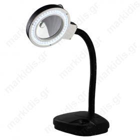 Μεγεθυντικός Φακός 40 LED επιτραπέζιος με φως x5 και x10 ευρυγώνιος