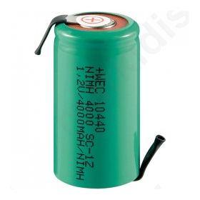 Επαναφορτιζόμενη μπαταρία με λαμάκια Accu Ni-MH 1.2V 4000mA