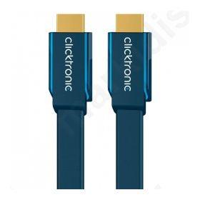 Καλώδιο Clicktronic HDMI αρσ. - HDMI αρσ FLAT