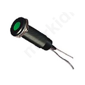 Ενδεικτική Λυχνία Βιδωτή Led Φ6 220V Πράσινη