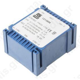 Μετασχηματιστής PCB εξόδου 2 x 15V