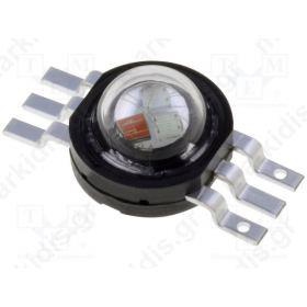 PM6B-3LFE Power LED EMITER Pmax:3W RGB; 130° 36-42lm
