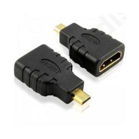 Adaptor  HDMI F - Micro Hdmi M, DeTech, Μαύρο