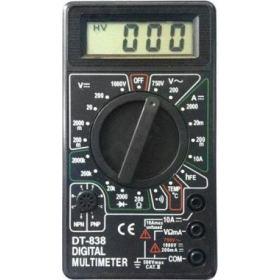 Ψηφιακό πολύμετρο, DT838, Μαύρο