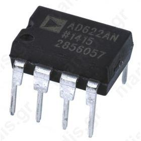 AD622ANZ, Instrumentation Amplifier, 0.125mV Offset 1MHz, 8-Pin PDIP