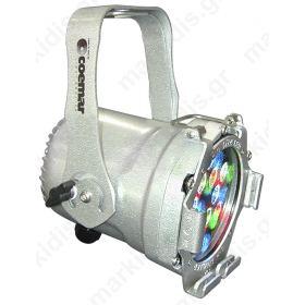 PAR LED RGB 12LEDS X 1W SILVER