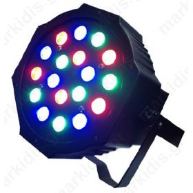 LED ΠΡΟΒΟΛΕΑΣ RGB 18X3W 25DEG BLACK IP20