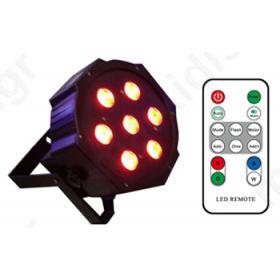 LED ΠΡΟΒΟΛΕΑΣ RGBW ΜΕ 7 LED ΚΟΙΝΟΥ ΠΟΜΠΟΥ 4W