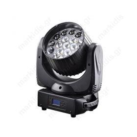 LED ZOOM WASH ΚΙΝΗΤΗ ΚΕΦΑΛΗ RGBW 19X15W