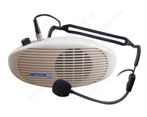 Amplified belt speaker