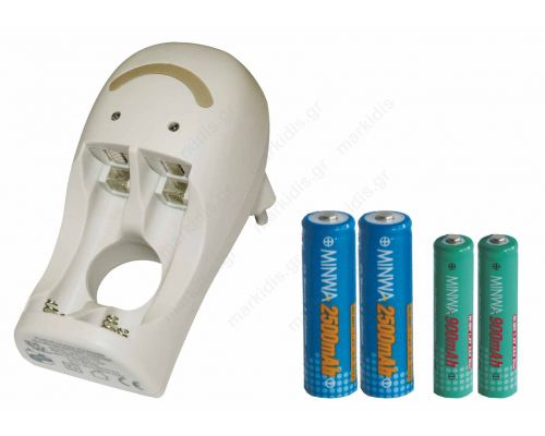 Battery charger with 4 batteries