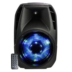 160W powered speaker with leds