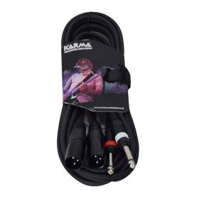 Cavo audio 2 Jack 6,3 - 2 XLR M - 3mt