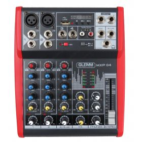 4 channel microphone mixer with MP3-DSP
