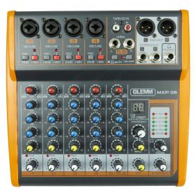 6 channel microphone mixer MP3-DSP