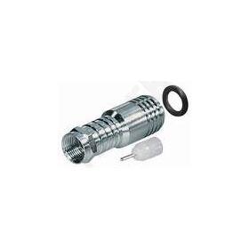 F αρσ. πρεσσαριστό.Υδατοστεγές για εξωτερική χρήση. Βιδωτό με 2 δακτυλίδια & σιλικονούχο λάδι, με εσωτερικό pin-long version Φ 10mm. RG11U