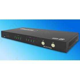 ANGA PS402HD-4K HDMI Matrix, 4 Εισόδων - 2 Εξόδων, 4K*2K@30Hz, 3D 1080P@60Hz, HDCP, DTS, Dolby Digital True HD με Τροφοδοτικό και τηλεχειριστήριο