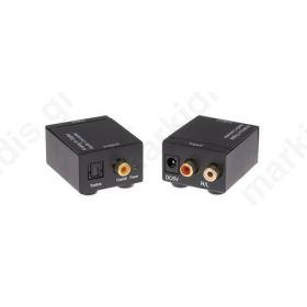 ANGA CVA-3005 Μετατροπέας Stereo RCA σε Ψηφιακό Ήχου Toslink ή Coaxial (περιλαμβάνει τροφοδοτικό 5V/1A)